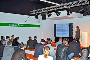 2015 zählte das Vortragsprogramm des Gebäude-Forums zu den bestbesuchten Veranstaltungen der ISH.<br />