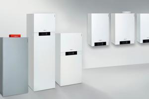 Viessmann bietet ein lückenloses Programm von Gas-Brennwertkesseln mit selbstkalibrierender Verbrennungsregelung.