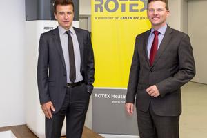 Die Geschäftsführer Dr. Franz Grammling (links) und Georg Blümel wollen auch in Zukunft die Entwicklung der Rotex-Produkte vorantreiben (Foto: Rotex Heating Systems GmbH)