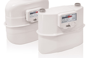 Balgengaszähler des Typs GR sind modular mit M-Bus, KNX oder wireless M-Bus nachrüstbar.