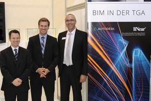"""Die Referenten der Veranstaltung """"BIM in der TGA"""", die im Rahmen der GET Nord von liNear und Autodesk veranstaltet wurde.<br />"""