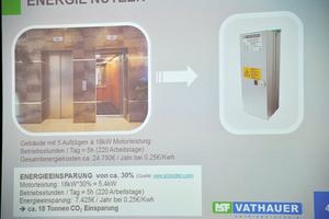 Mit geringen Investitionskosten lassen sich<br />mit der Entwicklung von MSF-Vathauer nicht<br />nur Aufzüge energetisch optimieren und<br />verlorene Energie zurückgewinnen.<br />In