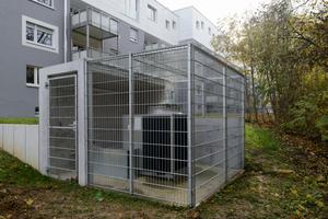 """Die Buderus-Gas-Absorptionswärmepumpe """"Logatherm GWPL41"""" mit einer Leistung von 41 kW deckt die Grundlast in dem Mehrfamilienhaus.<br />"""