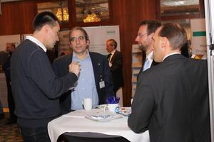 Meinungsaustausch unter den Teilnehmern des TGA Fachforums Brandschutz in Frankfurt