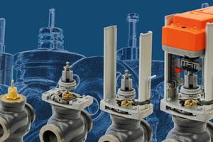 Hubantriebe von Belimo mit vormontierter Universalkonsole zur einfachen Montage auf Hubantriebe unterschiedlicher Hersteller