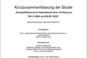Die Studie wurde im Auftrag des ZVEI an der Hochschule Biberach erstellt