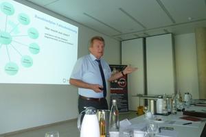 Ulrich Stahl, Vorstandsvorsitzender des BVF e.V., referierte zum Thema Schnittstellenkoordination. (Foto: Bundesverband Flächenheizungen und Flächenkühlungen e. V., Hagen)