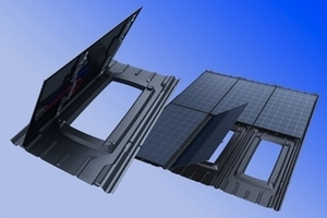 Das dachintegrierte Photovoltaik-Konzept ist für große Dachflächen von Industrie- oder Landwirtschaftsgebäuden konzipiert und ist leicht und einfach zu montieren
