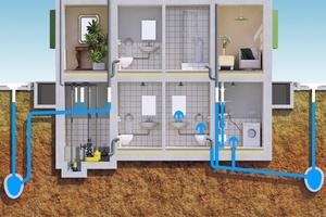 Eine korrekte Rückstausicherung kann den Keller (links) vor Überflutung nachhaltig schützen.