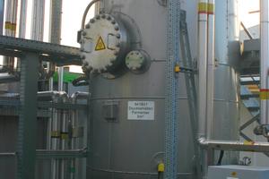 Der Druckbehälter für die biologische Methanisierung