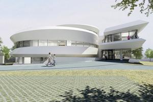 Das Haus der Astronomie in Heidelberg wurde einer Spiralgalaxis nachgebildet, ...<br />