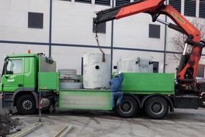 Lieferung des Substratfilters zum unterirdischen Einbau in der angrenzenden neu angelegten Verkehrsfläche