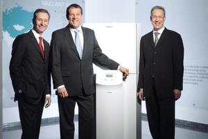 Die Geschäftsführer der Vaillant Group (v.l.n.r.): Dr. Carsten Stelzer, Dr. Carsten Voigtländer und Dr. Dietmar Meister