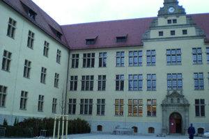 Das Schulgebäude im Oberstufenzentrum für Bürowirtschaft in Berlin-Lichtenberg