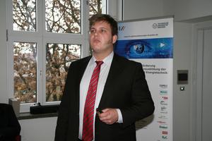 Preisträger Christoph Sirsch, HTW Dresden, berichtete über seine Diplomarbeit<br />