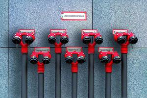 <br />Je nach Art der Löschanlage kann Sanha Systeme aus Edelstahl, C-Stahl, Kupfer oder Siliziumbronze anbieten.<br />