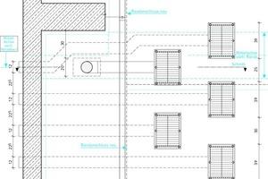 """<div class=""""grafikueberschrift"""">Großes Wellental</div>Je Giebelseite drängen sich vier Notentwässerer und ein Hauptentwässerer auf engstem Raum"""