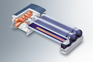 """Bei Temperaturen von über 145 °C kann sich das dampfförmige Wärmeträgermedium im Kondensator des Vakuum-Röhrenkollektors """"Vitosol 300-T"""" nicht mehr verflüssigen, der Wärmetransport ist dadurch unterbrochen."""