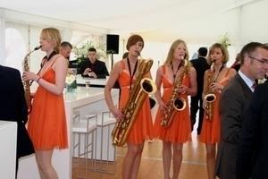 Vier Damen mit Saxophon sorgten für den musikalischen Rahmen der Veranstaltung