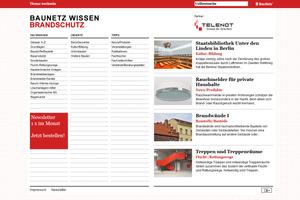 """Das Online-Lexikon """"Baunetz Wissen Brandschutz"""" bietet Informationen rund um den Brandschutz"""
