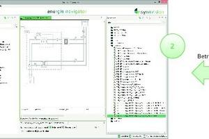 """<div class=""""grafikueberschrift"""">2. Schritt: </div>Import der Betriebsdaten (2) nach Inbetriebnahme der Gebäudeautomation über eine offene Schnittstelle"""