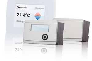 Den Panasonic-Wärmepumpenmanager gibt es mit und ohne Display, optional erhältlich ist der externe Touch-Screen