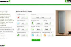 Der Leistungskalkulator bietet Sicherheit bei der Wahl des Heizkörpertyps<br />
