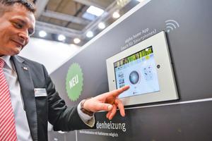 """Tablet-App zur Steuerung der Heizung per """"Smart Home"""" bei Alpha Innotec/AIT-Deutschland"""