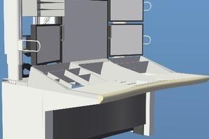 Jeder Lotsenarbeitsplatz erzeugt eine Wärmelast von 1 kW; alle Tische stehen direkt auf dem perforierten Boden, ohne zusätzlichen Anschluss an den Doppelboden
