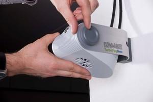 Das Hochdruckdüsen-System erlaubt eine mikrofeine Verneblung