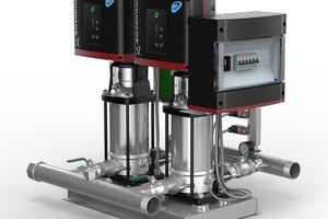 """Druckerhöhungsanlage """"Hydro Multi-E"""" von Grundfos"""