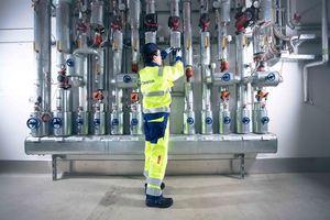 """Caverion stattet den Gebäudekomplex """"Baufeld 60"""" in der Hamburger Hafen City mit den Gewerken Kälte und Heizung aus. (Foto: Caverion GmbH)"""