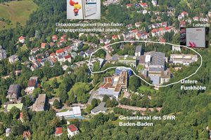 Gesamtareal des SWR Baden-Baden<br />