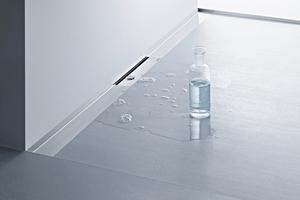 """Bodengleiche Duschen mit der dazu passenden Entwässerungslösung wie hier die """"CeraWall S""""<br />sind barrierefrei und leicht zu reinigen.<br />"""