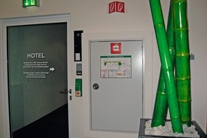 Kartenlesegerät an einem Eingang<br />