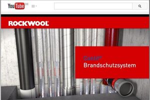 """Ein Video im YouTube-Kanal der Deutschen Rockwool informiert über brandschutztechnische Abschottungen in Wand- und Deckendurchführungen sowie über die bewährten """"Conlit""""-Brandschutzlösungen des Herstellers, mit denen u.a. die Abschottung im Null-Abstand auch zu Fremdsystemen möglich wird."""