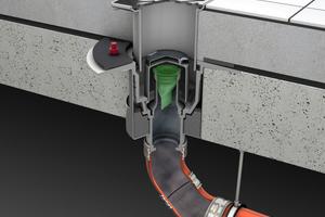 Der optionale Geruch- und Rauchstopp verhindert das Ausbreiten von Rauch und das Eindringen von Gerüchen aus der Kanalisation bei fehlender Wasservorlage.
