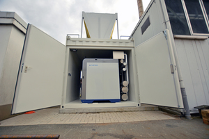 InvenSor-Kälte-Container inkl. Rückkühler bei Busch-Jaeger Elektro GmbH