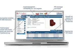 Für die gusseisernen Abflussrohre von Düker gibt es die passenden VDI 3805-Datensätze.