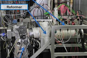Der Reformgasmotor im Versuchsbetrieb auf dem Prüfstand der ECC Automotive GmbH