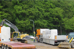 """Erweiterung der Parkplatzflächen für Mitarbeiter der Firma febi bilstein in Ennepetal; Lieferung der Niederschlagswasser-Behandlungsanlage mit Substratfilter """"ViaPlus"""" zum unterirdischen Einbau<br />"""