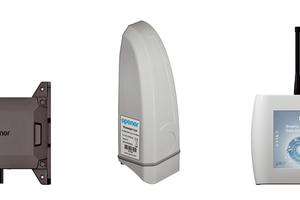 """Das """"Smatrix Aqua Plus""""-Hygiene-Spülsystem besteht aus nur drei Komponenten: den kompakten Spülstationen, den Temperatursensoren für die erweiterte Überwachung und dem zentralen Data-Hub."""