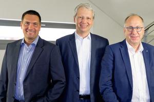 Die Herausgeber der Trendstudie (v.l.n.r.): Christian Kühn, Geschäftsführer von Schlentzek & Kühn, Zukunftsforscher Michael Carl von 2b Ahead Thinktank und Peter Ohmberger, Geschäftsführer von Hekatron.