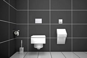 """""""MEPAorbit"""" steht für eine ganzheitliche Design-Serie für WC und Urinal, die eine klare Linie im Bad schafft"""
