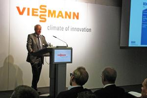 Der Hauptgeschäftsführer des BDH, Andreas Lücke, erläuterte die Digitalisierungsstrategie des Bundesverband der Deutschen Heizungsindustrie.