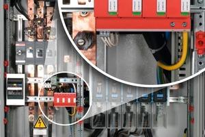 """Bild 6: """"DehnVentil M"""" – Blitzschutzpotentialausgleich für die Energietechnik in der Niederspannungshauptverteilung<br />"""