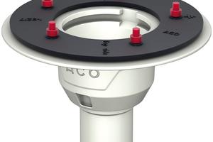 """Die Serie """"Passavant"""" von ACO Haustechnik umfasst Gusseisen-Bodenabläufe in modularer Bauweise in den Nennweiten DN 50, 70 und 100."""