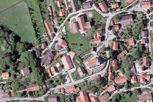 Luftbild vom Ortszentrum Pähl in Oberbayern<br />