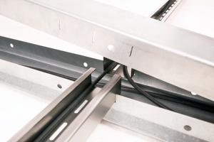 Die Stringkabelführung mit Modulkabelrinne ist eine Entwicklung der T. Werk GmbH.
