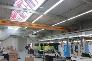 Lüftungskanäle in der Produktionshalle